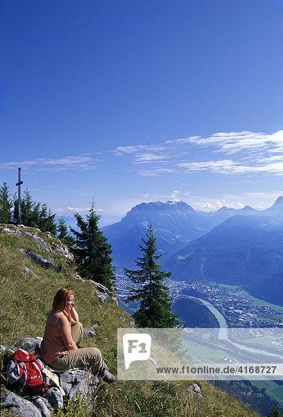 Inn valley Kufstein - view from Pendling mountain Tyrol Austria