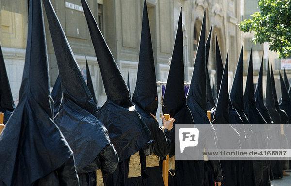 Sevilla Semana Santa Prozession in Karwoche Andalusien Spanien