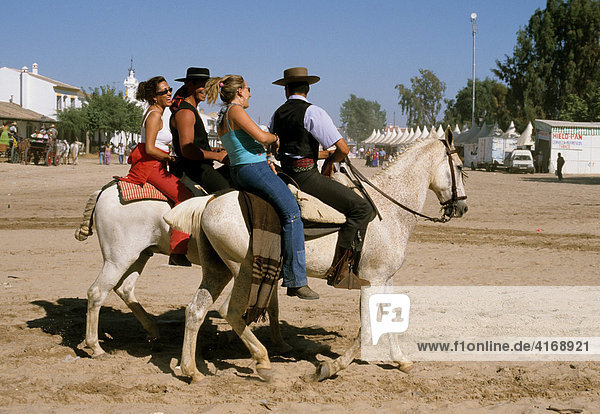 El RocÌo - RomerÌa Pfingst-Wallfahrt Fiesta - Costa de la Luz - Andalusien Provinz Huelva Spanien