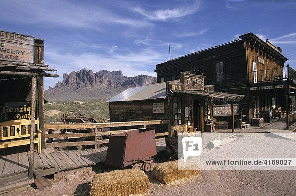 USA Arizona Apache Trail Goldfield Ghost Town Geisterstadt Superstition Mountains