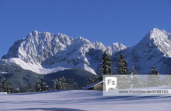 Deutschland Oberbayern Werdenfelser Land - Krün Karwendel mit Wörner