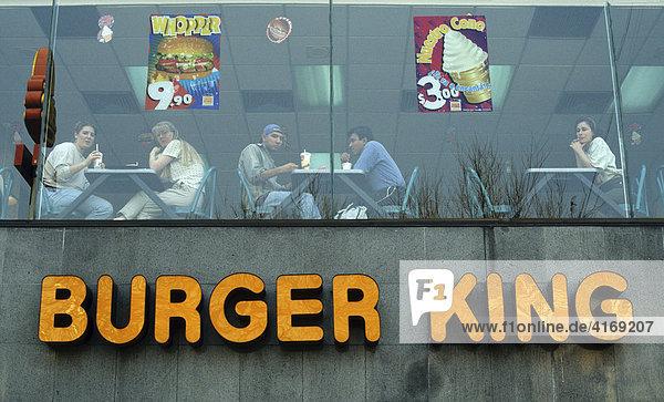 Mexico  D.F. Mexiko-Stadt Zona Rosa Burger King