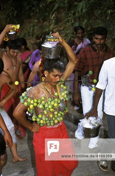 Thaipusam Fest ( Hindu-Fest ) in Penang Malaysia