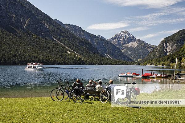 Lake Plansee near Reutte in Tyrol  Austria