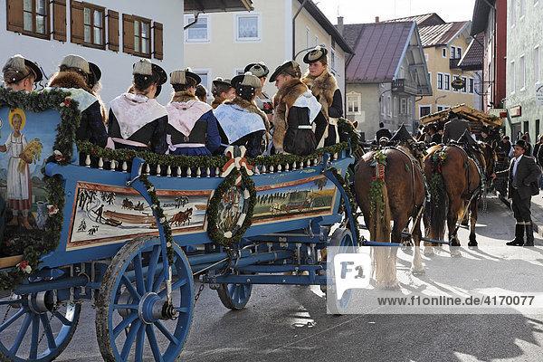 Leonhardi parade in Bad Toelz  Upper Bavaria  Germany