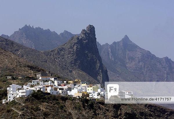 Bergdorf Almaciga in Las Montanas de Anaga  Teneriffa  Kanarische Inseln  Spanien
