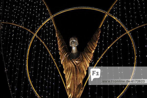 Angel of Baroque Christmas Market Ludwigsburg  Baden-Wuerttemberg  Germany