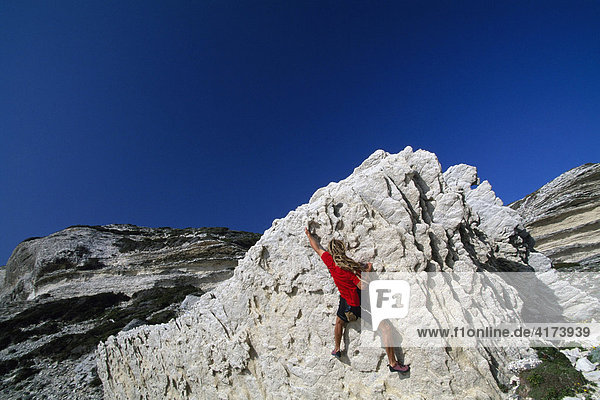 Freeclimbing  Bonifacio  Corsica  France
