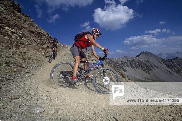Mountainbiking  Graubunden  Grisons  Switzerland