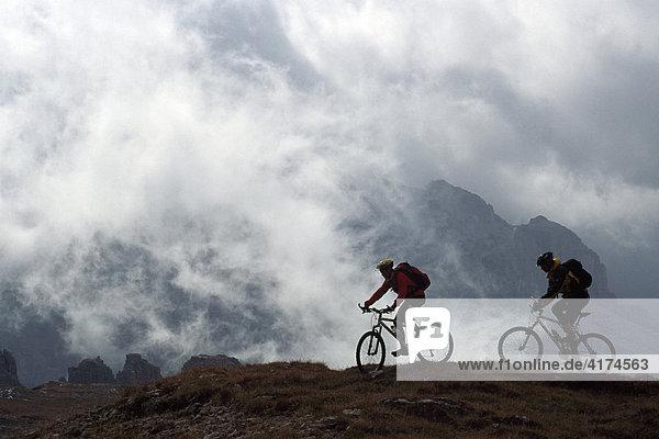 Mountainbiking  Transalp  Dolomiten  Brenta  Südtirol  Italien
