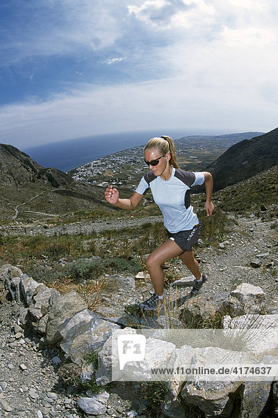 Running  Sport  Amorgos  Kykladen  Griechenland