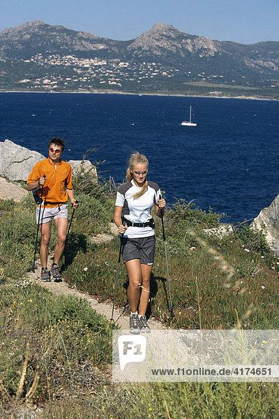 Nordic Walking  Calvi  Korsika  Frankreich