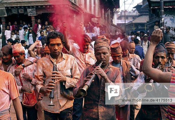 Bisket Jatra Festival  Nepalese New Year  Bakthapur  Kathmandu  Nepal  Asia