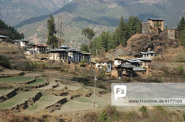 Bhutan  Königreich  Himalaya  Ort