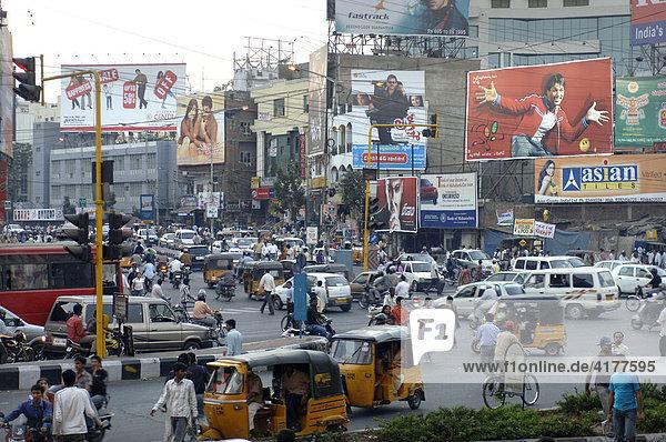 Straßenszene  Hyderabad  Indien
