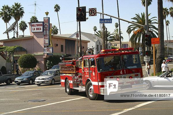 Feuerwehr in Hollywood Los Angeles Kalifornien Vereinigte Staaten von Amerika USA