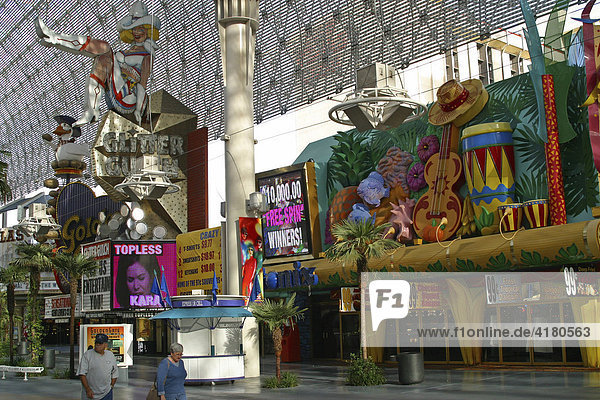 Fremont Street Experience Downtown Las Vegas Nevada United States of America USA