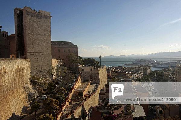 Torre dell'Elefante in Cagliari Sardinien Italien Europa