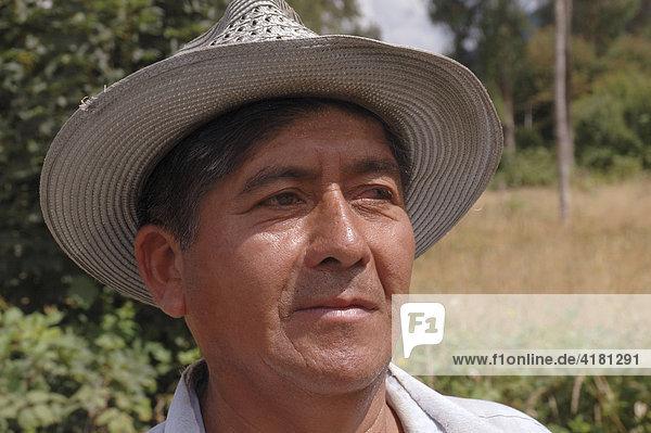 Porträt chilenischer Bauer mit Hut Chile