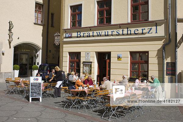 Restaurant Bratwurstherzl am Viktualienmarkt in München  Bayern  Deutschland
