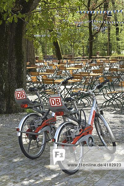 Rent a Bike  Service der Deutschen Bahn in München  Bayern  Deutschland  Europa