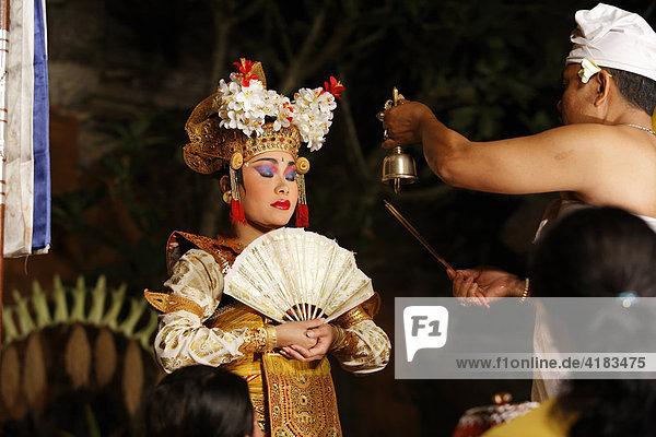 Legong Tanz in Ubud  Bali  Indonesien
