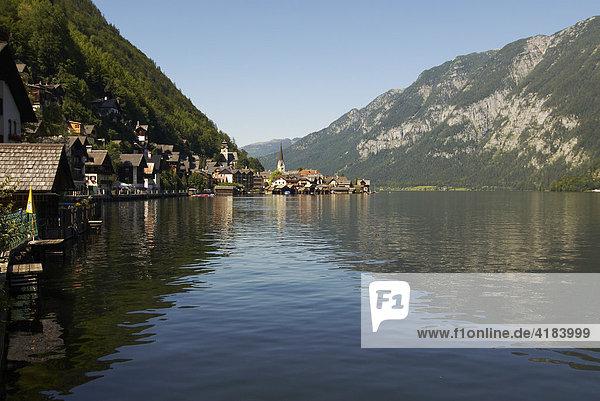 Hallstatt am Hallstätter See  Salzkammergut  Oberösterreich  Österreich
