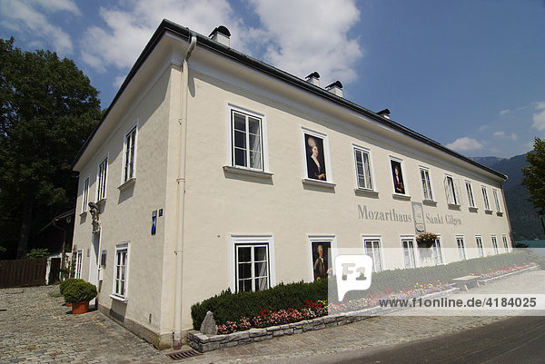 Mozarthaus St. Gilgen am Wolfgangsee  Geburtshaus der Mutter Mozarts  Salzburg  Österreich