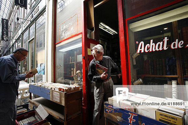 Bookstore in a passage  Paris  France  Europe