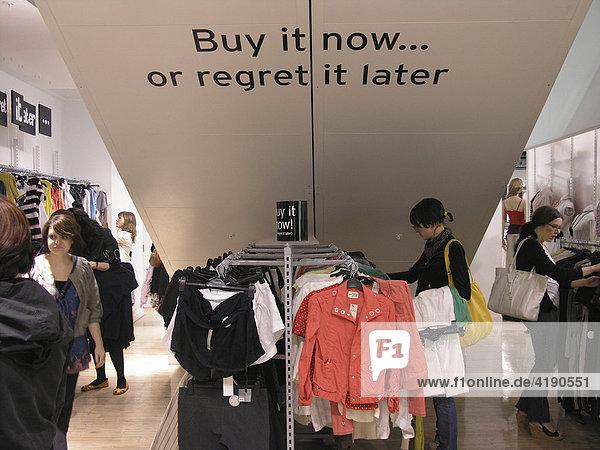 Shopping in London UK
