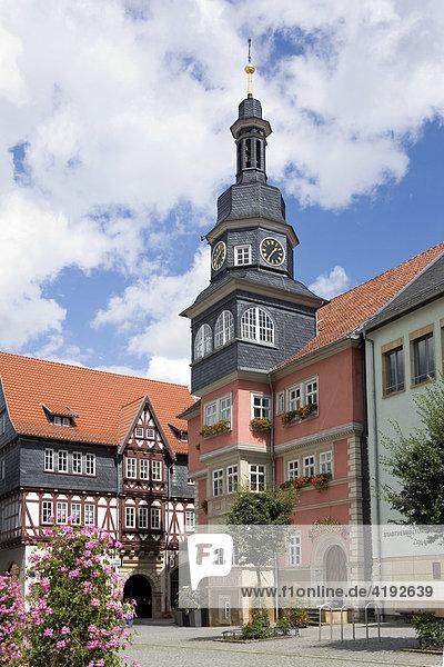 Rathaus am Marktplatz  Eisenach  Thüringen  Deutschland