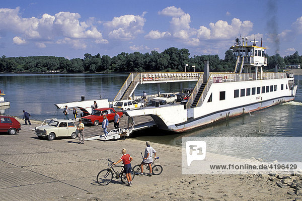 Ferry in Mohacs Danube Hungary