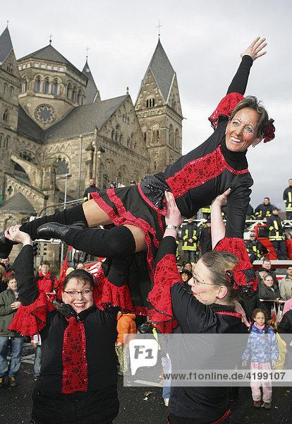 Mardi gras parade in Koblenz  Rhineland-Palatinate  Germany: