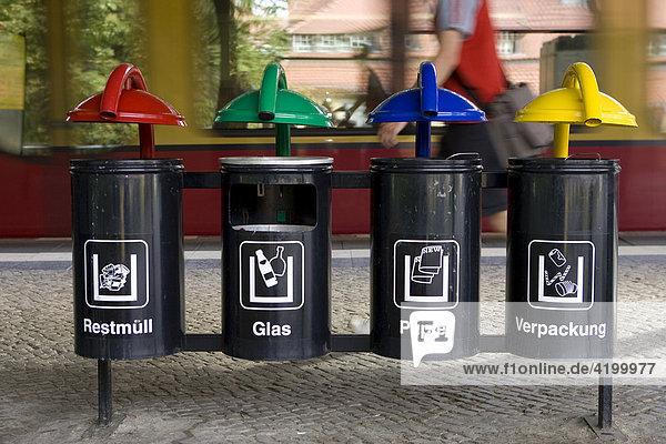 Mülleimer  Mülltrennung Berlin  Deutschland Mülleimer, Mülltrennung Berlin, Deutschland