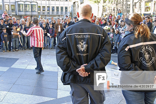 Street wardens  Cologne  North Rhine-Westphalia  Germany