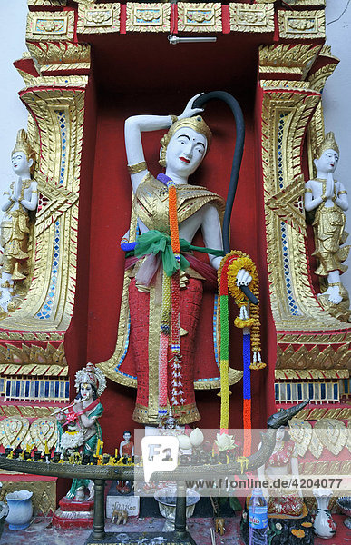 Statue of Thorani  Buddhist Goddess of the Earth  Wat Phra That Doi Suthep Temple  Chiang Mai  Thailand  Southeast Asia