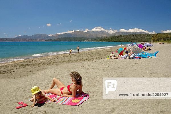 Strand bei Gythion  Peloponnes  Griechenland