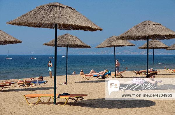 Strand  Clubdorf San Augustino Resort  Peloponnes  Griechenland Strand, Clubdorf San Augustino Resort, Peloponnes, Griechenland
