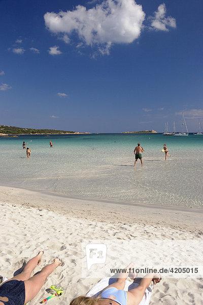 Strand Cala Brandinchi Ostküste Sardinien