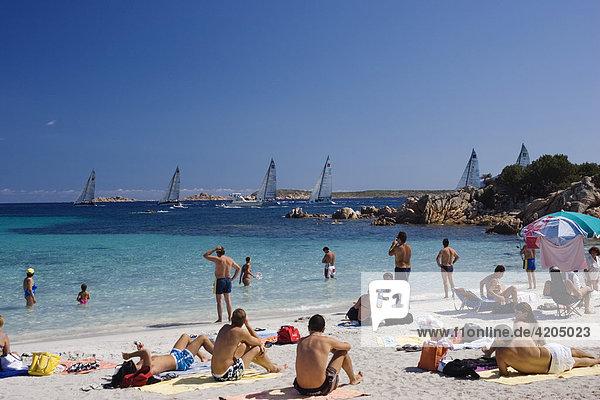 Spiaggia Capriccioli Costa Smeralda Sardinien Italien Spiaggia Capriccioli Costa Smeralda Sardinien Italien