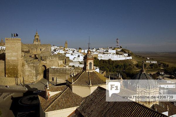 Alcazar de la Puerta de Sevilla in the historic centre of Carmona  Andalusia  Spain  Europe