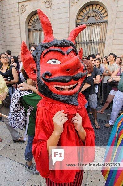 La Merce feast  Barcelona  Catalonia  Spain