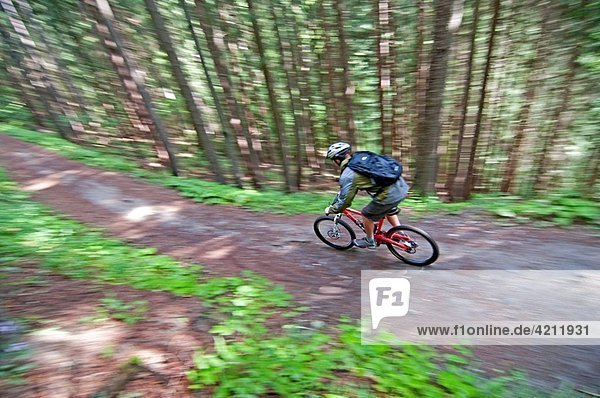 Elijah Weber mountain biking at Les Grands Montets on Le Lavancher Trail above the towns of Argentiere and Chamonix France