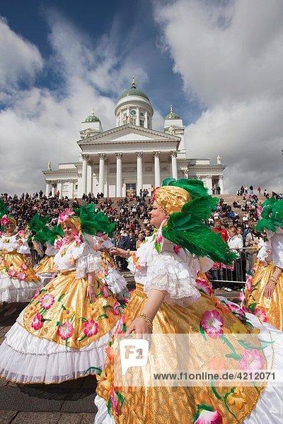 Finland  Helsinki  Helsinki Day Samba Carnaval in Senate Square  Senaatintori  NR
