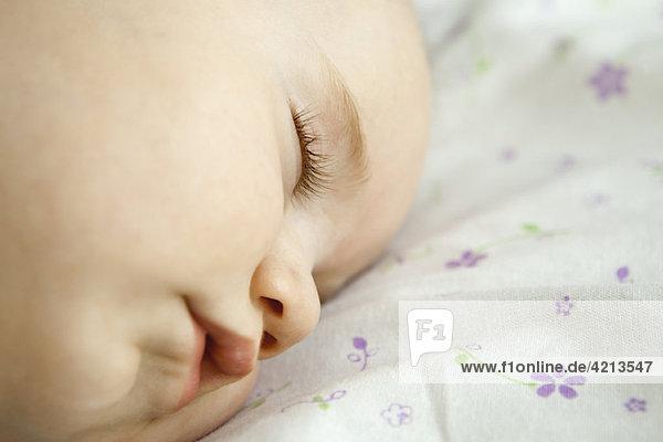 Baby schläft  Nahaufnahme
