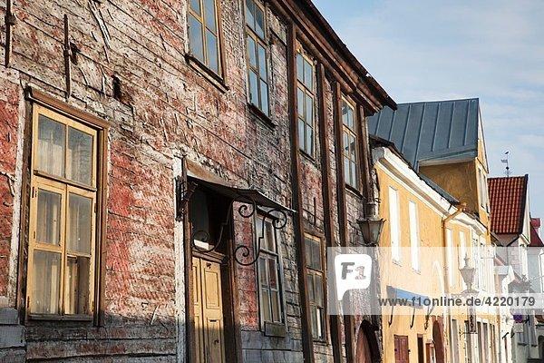 Estonia  Tallinn  Old Town  buildings on Uus Street