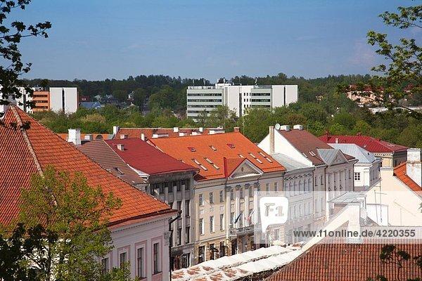 Estonia  Southeastern Estonia  Tartu  Toomemagi  Cathedral Hill  elevated town view