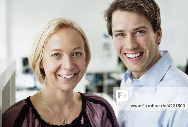 Zwei glückliche Kollegen