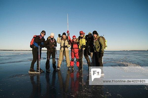 Gruppenbild auf dem Eis