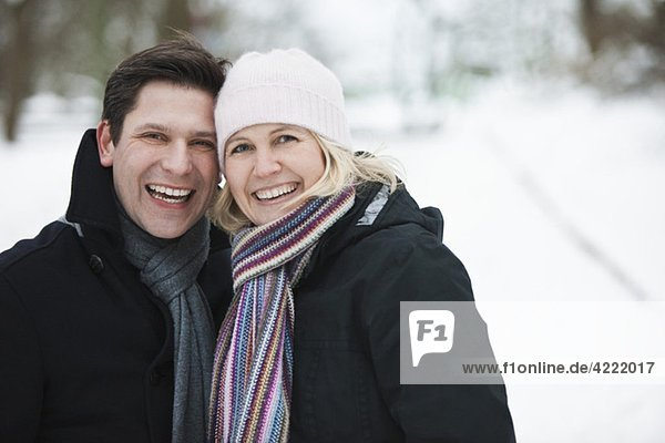 Couple with winterclothes